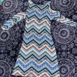 Multicolored patterned soft dress